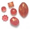 Lucite Assorted Medium Beads Cherry Quartz - 42 Grams